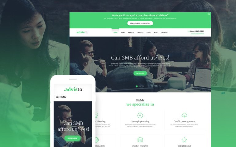 Advisto - Financial Advisor Consultancy WordPress Theme New Screenshots BIG