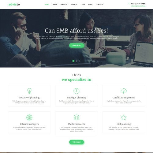 Advisto  - Responsive WordPress Template