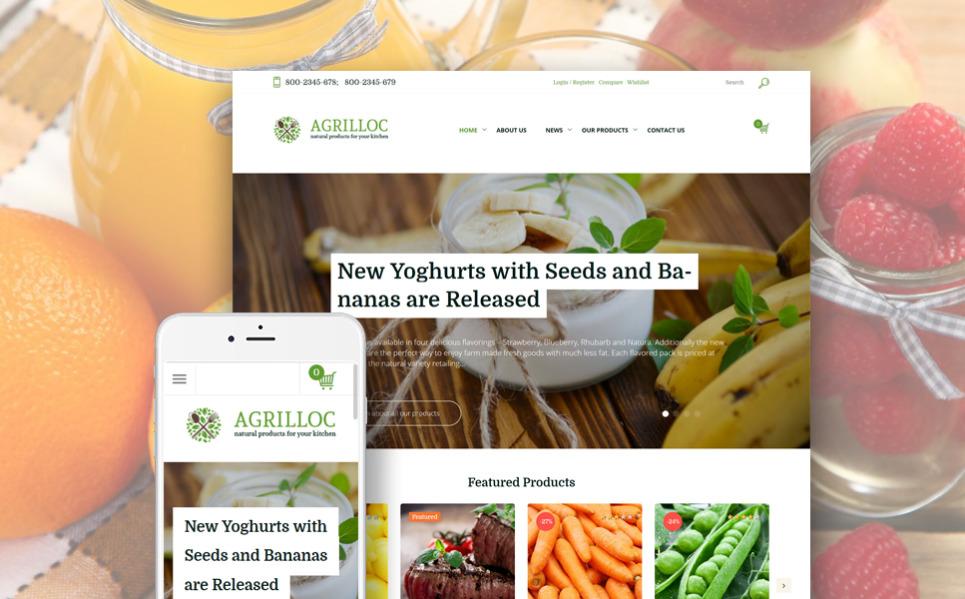 Woocommerce шаблон на сельскохозяйственную тематику
