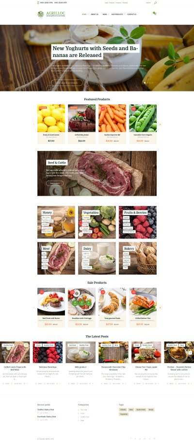 Agrilloc - Agricultural Supply & Farm Foods WooCommerce Theme #58670