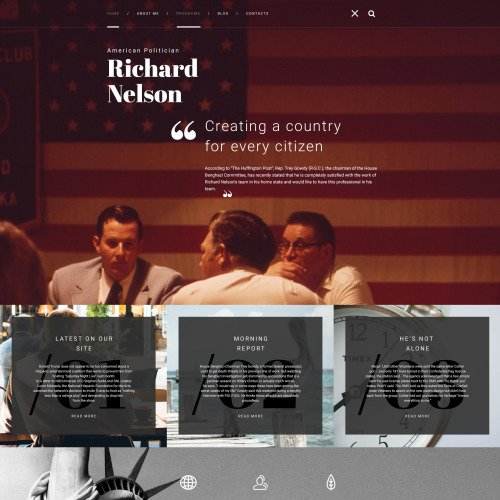 Richard Nelson - WordPress Template based on Bootstrap