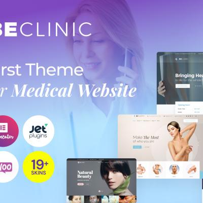 BeClinic - víceúčelová WordPress šablona na téma Medicína #58654
