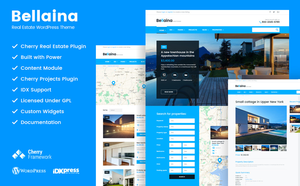 Bellaina - Real Estate Responsive WordPress Theme New Screenshots BIG