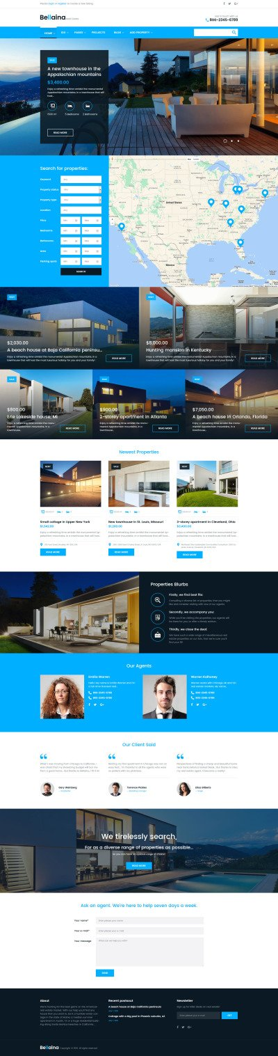 Responsives WordPress Theme für Immobilien