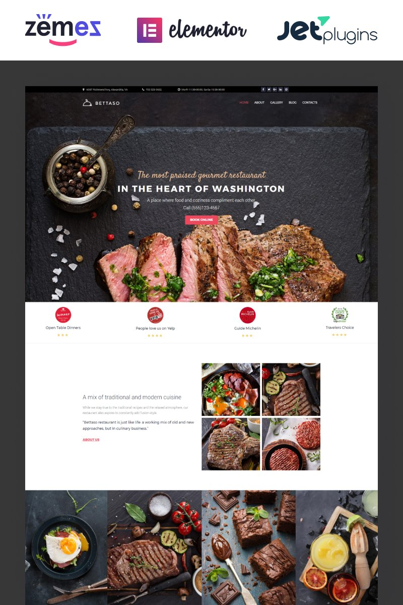 Bettaso - Cafe & Restaurant WordPress Theme - screenshot