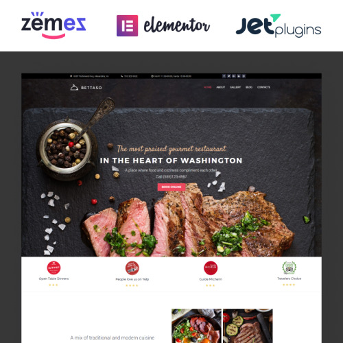 Bettaso Cafe & Restaurant - Responsive WordPress Template