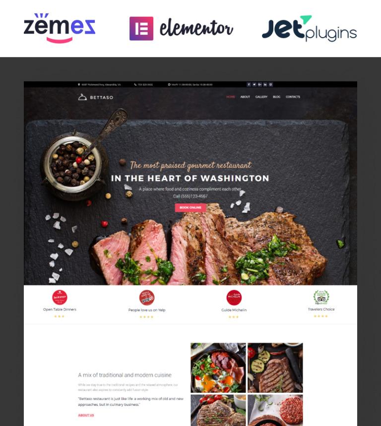 Tema de WordPress #58667 para Sitio de Restaurantes europeos