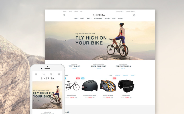 Bikerita PrestaShop Theme New Screenshots BIG
