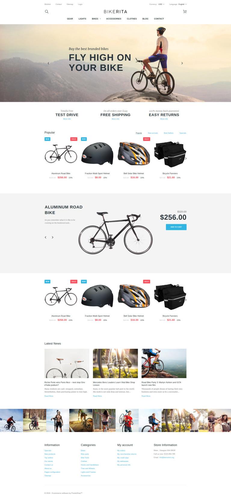 Bikerita PrestaShop Theme New Screenshots BIG