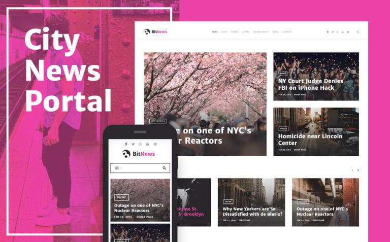 BitNews - Blog Magazine & News Portal WordPress Theme New Screenshots BIG