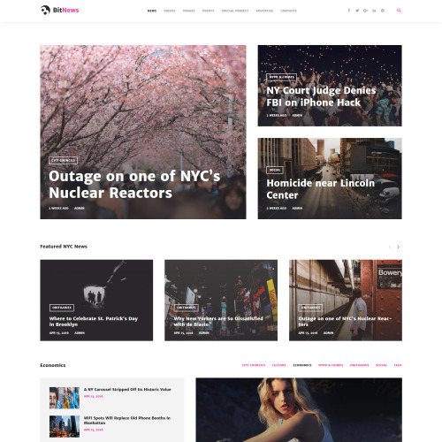 BitNews - WordPress Template based on Bootstrap