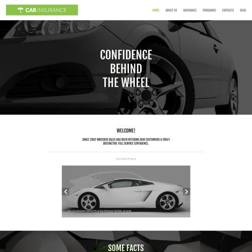 Car Insurance - MotoCMS 3 Template based on Bootstrap