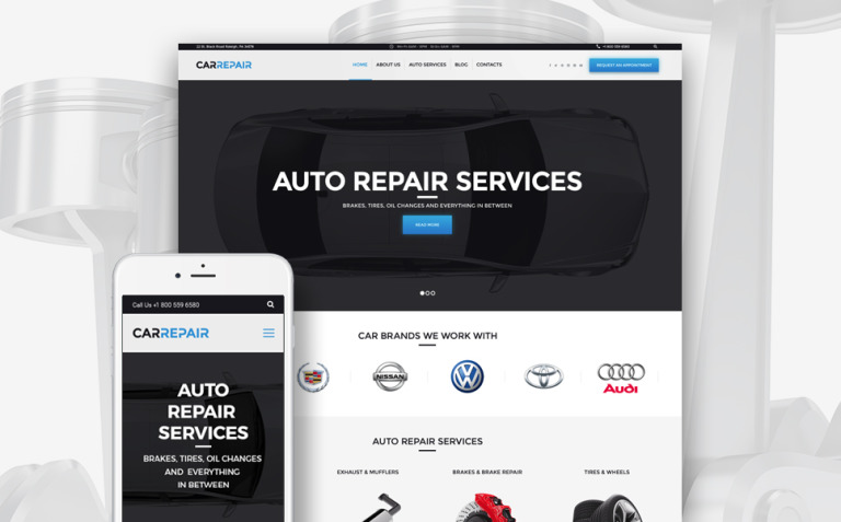 CarRepair - Auto Repair Services WordPress Theme New Screenshots BIG