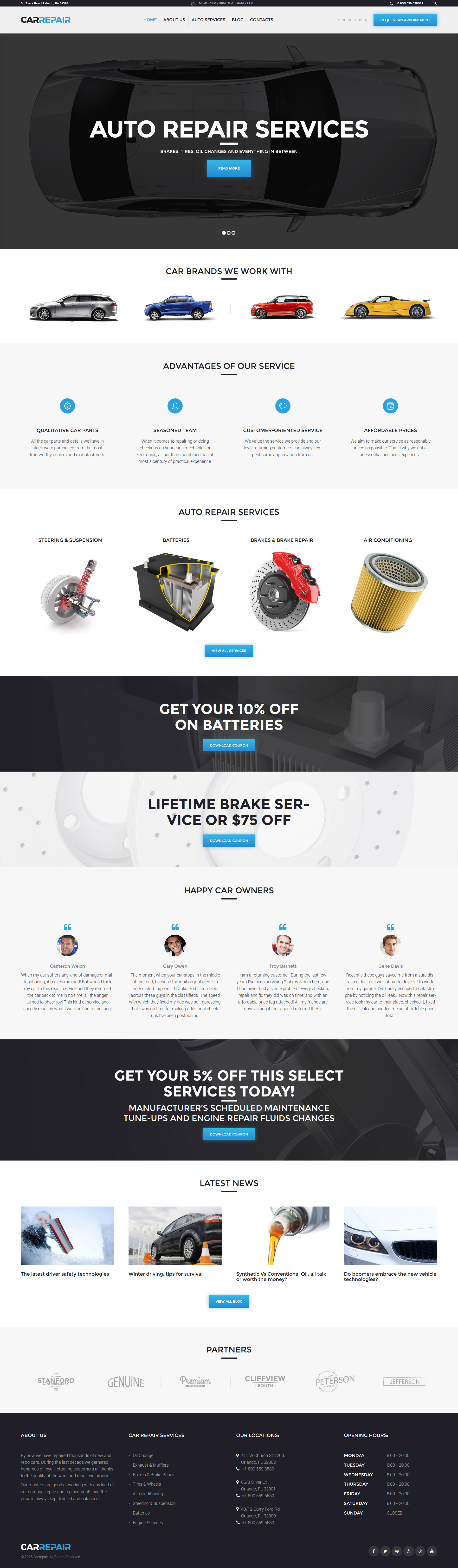 CarRepair - Auto Repair Services WordPress Theme - screenshot