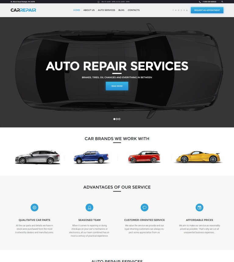 CarRepair - Auto Repair Services WordPress Theme