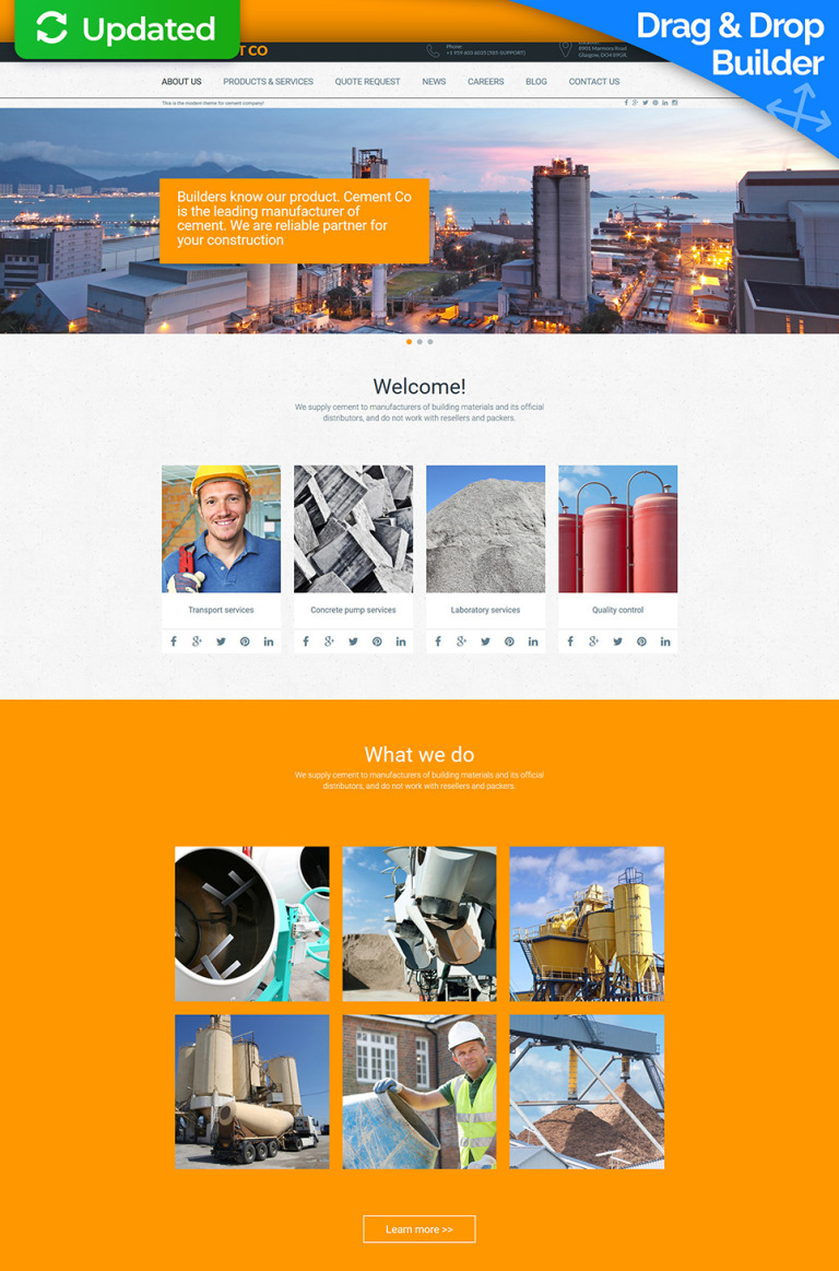 Cement Responsive Moto CMS 3 Template New Screenshots BIG