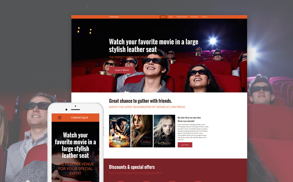 Cinematique Website Template New Screenshots BIG