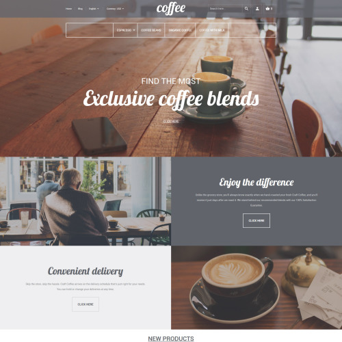 Coffee - Magento Template based on Bootstrap