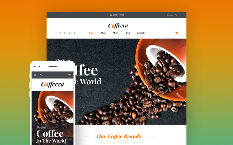 Coffee Shop WooCommerce Theme New Screenshots BIG