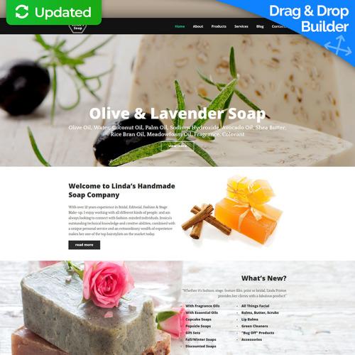 Linda Soap - MotoCMS 3 Template based on Bootstrap