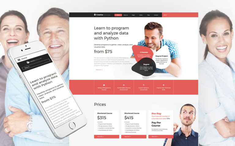 Creatica - Online Courses Responsive Joomla Template New Screenshots BIG
