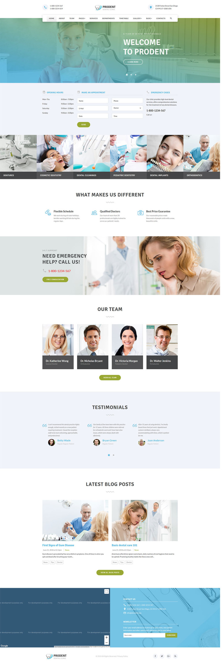 Dentic - Dentistry Clinic Medical Website Template New Screenshots BIG