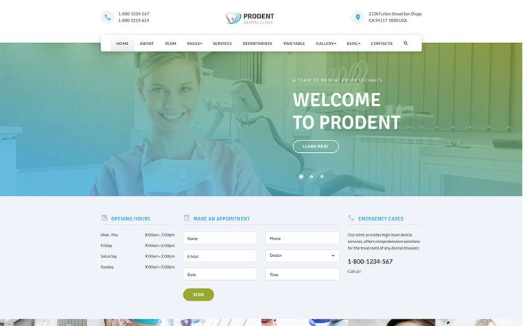 Dentic - Dentistry Clinic Medical Website Template