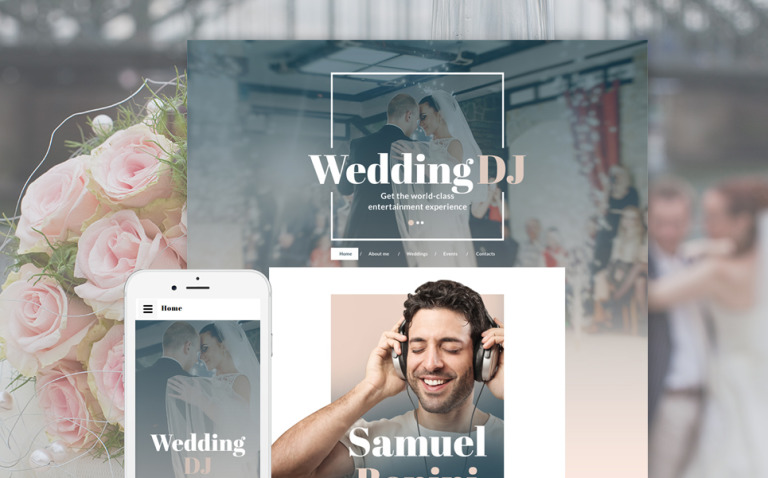 DJ Responsive Website Template New Screenshots BIG
