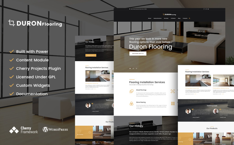 DuronFlooring - Interior & Furniture and Flooring WordPress Theme New Screenshots BIG