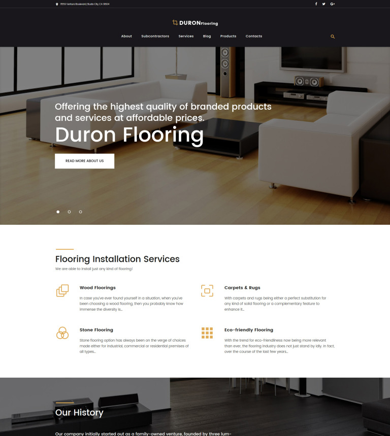 Flooring WordPress Theme