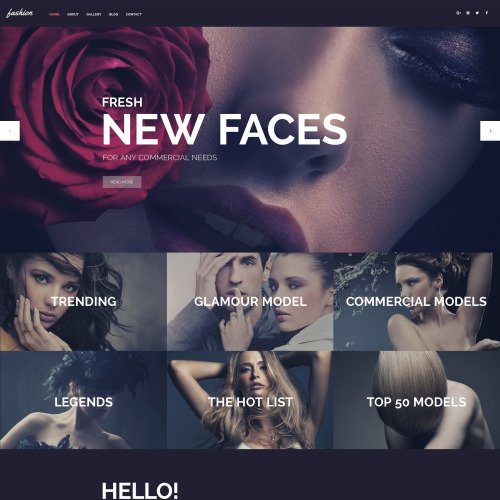 Fashion - WordPress Template based on Bootstrap