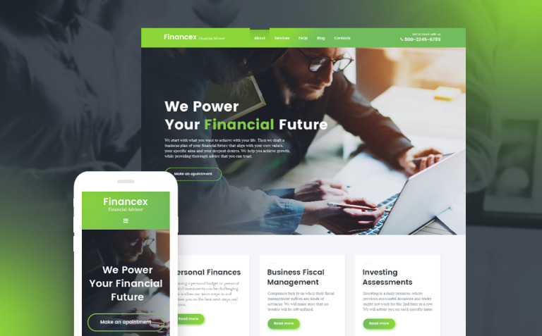 Financex - Financial Advisor WordPress Theme New Screenshots BIG