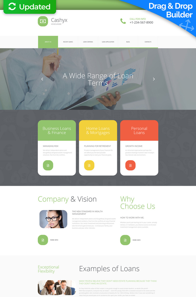 Financial Advisor Responsive Moto CMS 3 Template New Screenshots BIG