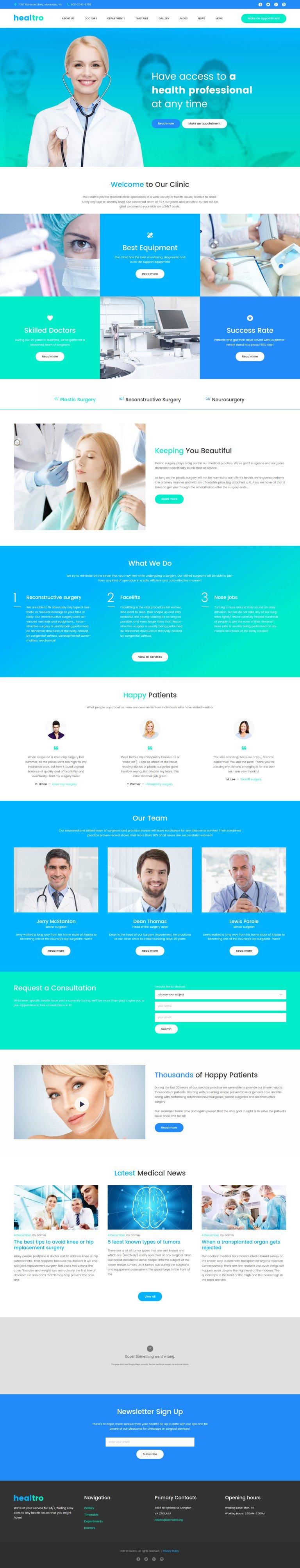 health template  Health Care WP Theme