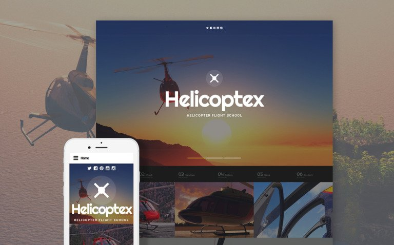 Helicoptex Website Template New Screenshots BIG