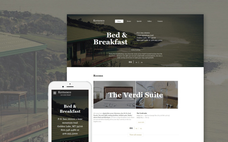 Hotel & Room Booking Website Template New Screenshots BIG