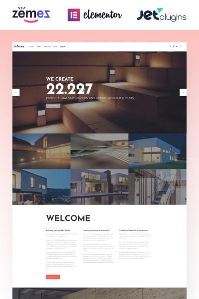 Interna - Exterior Design Template with Elementor Builder
