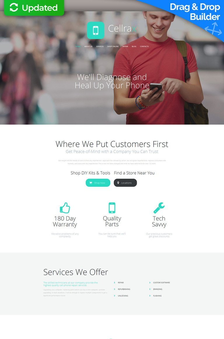 Mobile Repair Service Responsive Moto CMS 3 Template New Screenshots BIG