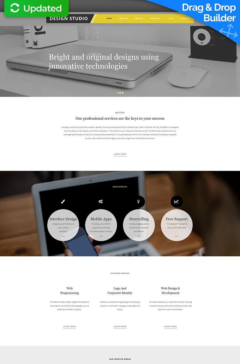 Modèle Moto CMS 3 adaptatif pour site de studio de design #58624 - screenshot