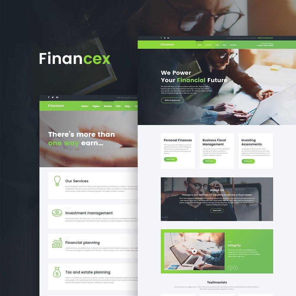 """Modello WordPress Responsive #58673 """"Financex - Financial Advisor"""""""