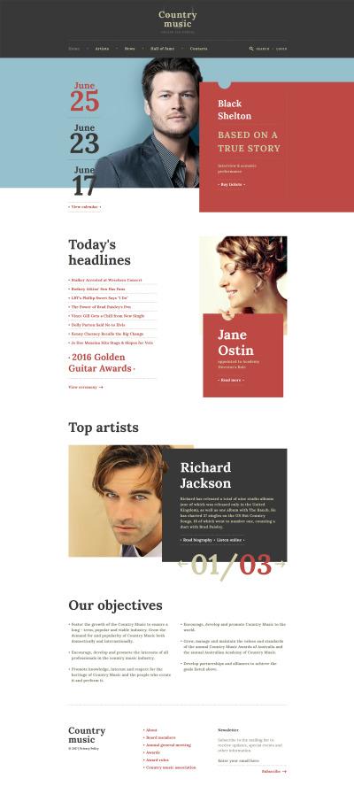 Modèle Web adaptatif  pour site de célébrités
