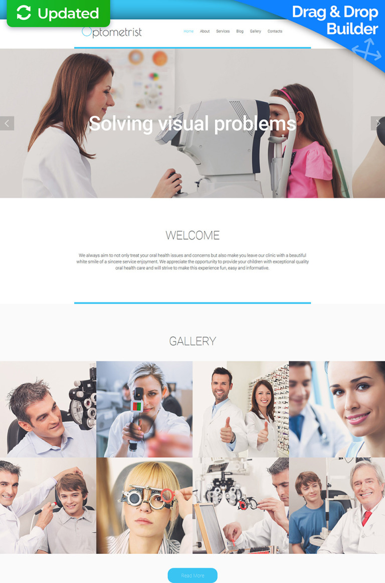 Optometrist's Responsive Moto CMS 3 Template New Screenshots BIG