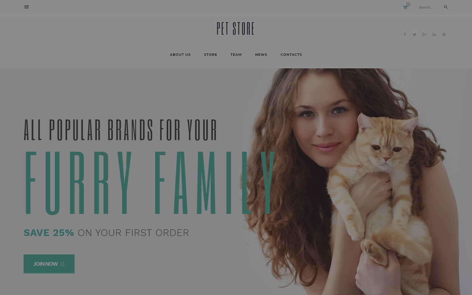 """PetStore - Pets Supplies Shop Responsive WooCommerce Theme"" Responsive WooCommerce Thema №58660"