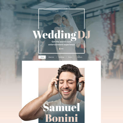 Responsive Plantilla Web #58643 para Sitio de  para Sitio de DJs
