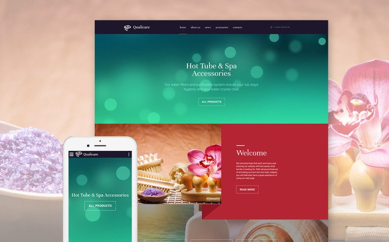 Qualicare Website Template New Screenshots BIG
