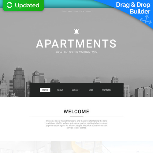 Apartments - MotoCMS 3 Template based on Bootstrap