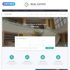 real estate efficient housing accommodation multipage html parallax website template