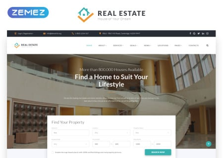 Real Estate Multipage HTML  58633