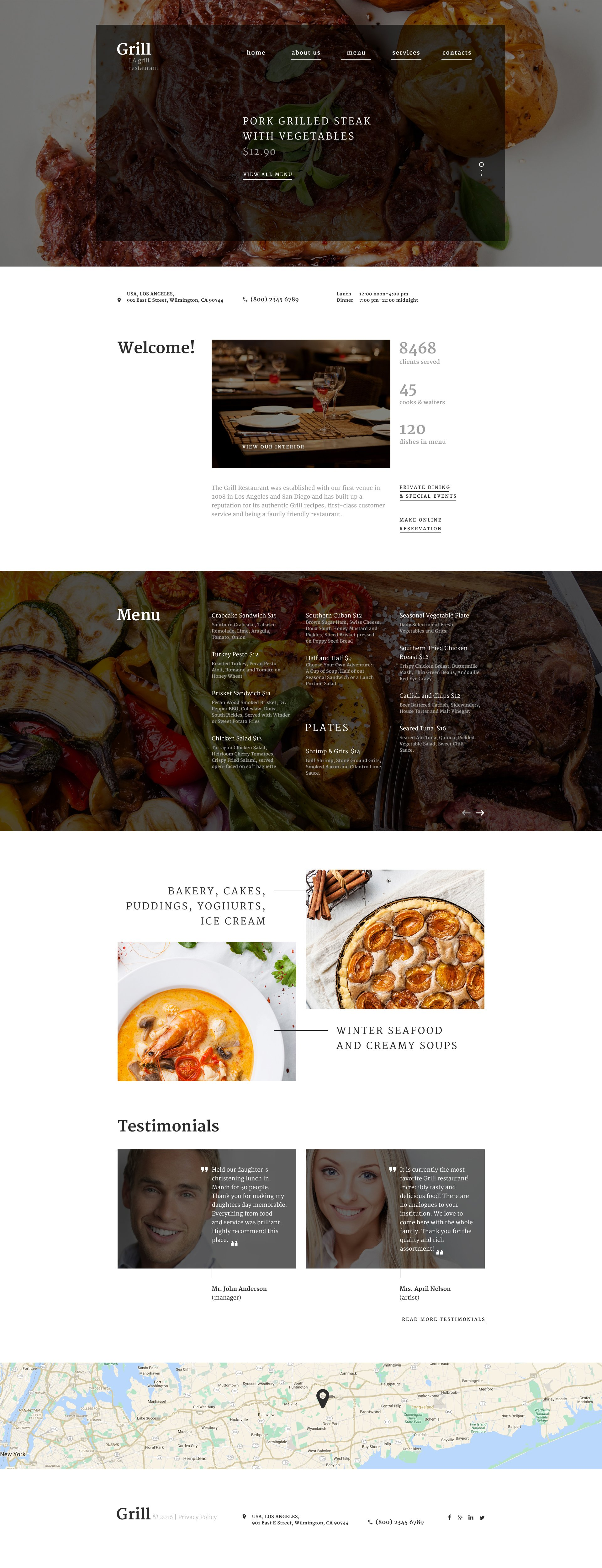 Responsive Website template over BBQ restaurant №58628