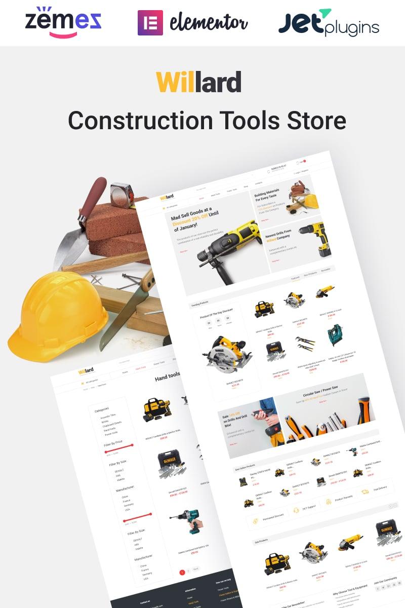 Responsivt Willard - Construction Tools Store Multipurpose ECommerce Clean Elementor WooCommerce-tema #58679